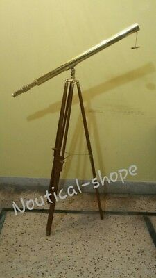 "Nautical Telescope 39"" (inch) 2 inch pipe for 4 Km view full brass item"