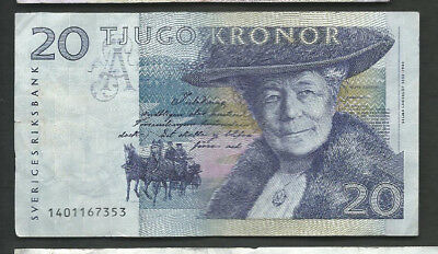 Sweden 1991 20 Kronor P 61a Circulated