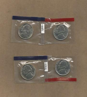 2000 P&D Jefferson Nickels / In Cello Packets Never Handled with Oily Fingers