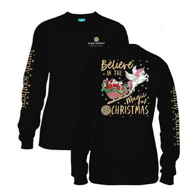 "New Simply Southern  ""Believe  In The Magic Of Christmas "" Size Large"