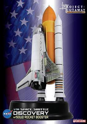 DRAGON #47403 1/144 : Space Shuttle Discovery Cutaway w/Solid Rocket Boost