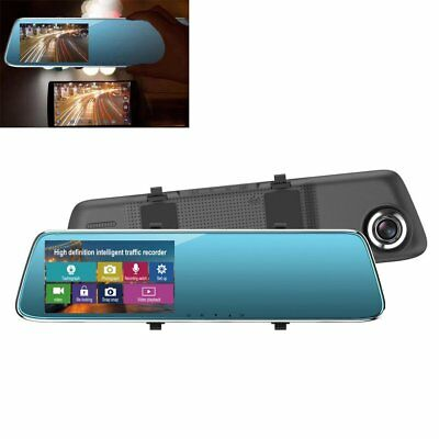 4.3inch Car Auto Touch Screen Rearview Mirror Recorder HD Vision Camera 1080P