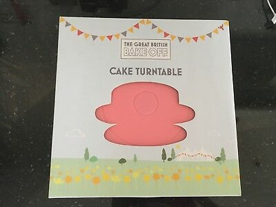 The Great British Bake Off Cake Pink Turntable