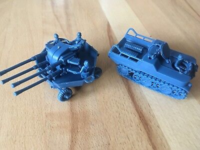 Atlantic WWII German Tractor & Flak Wagon Figuren 1:72
