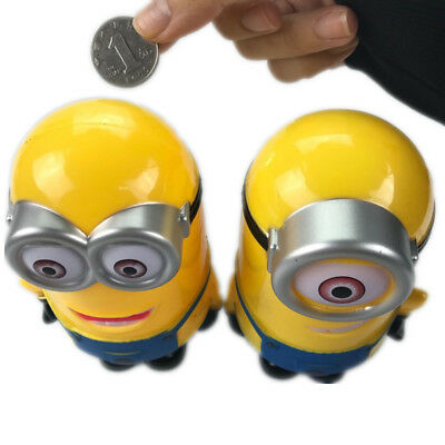 Minion Piggy Bank Minion Money Box Coin Kids Toys Cartoon Piggy Bank Fine Motor