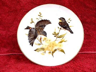 """Australian  Bush  Birds """"Spotted Pardalote"""" Limited  Edition Collector's Plate"""