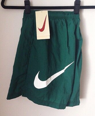 vintage nike white tag swim trunks youth size XL deadstock NWT 90s