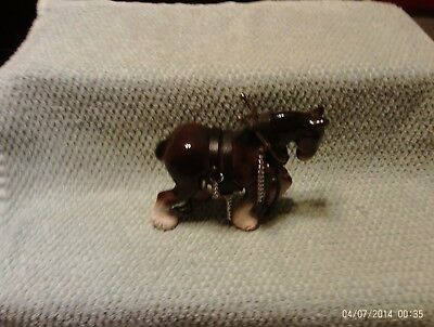Clydesdale Horse Figurine With Harness
