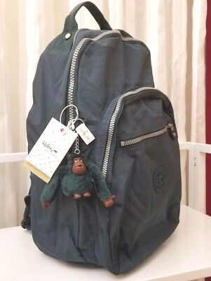 Kipling Seoul Large Backpack Laptop Protection Asparagus 3AS Green NWT $114