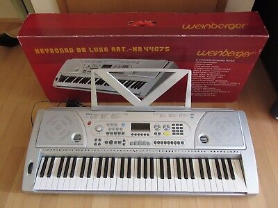 Weinberger Keyboard de Luxe Art. 44675 mit LED-Display silber Synthesizer Piano