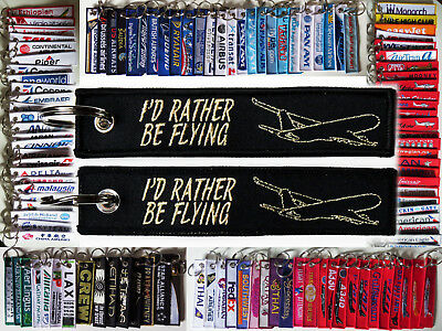 Keyring I'd Rather Be Flying Remove Before Flight tag keychain