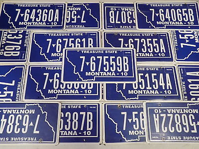 Montana License Plate You Pick Treasure State 7 - Flathead County ~FastFreeShip~