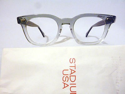 Vintage American Optical Hybrid Stadium Grey 44/20 Men's Plastic Eyeglass Frame