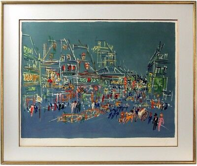 JEAN DUFY, Signiert Color Lithographie