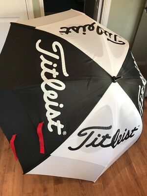 Titleist Large Double Canopy Golf Umbrella Good Condition Nice Buy
