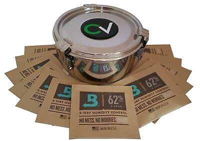 Cvault Storage Container Medium includes 12 8 Gram 62% Boveda Humidipacks