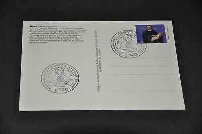 Postkarte Martin Luther Sonderstempel Worms 1983 Reformation Synode Ev. Kirche