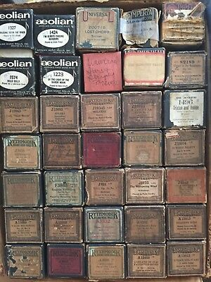 Lot of 55 Vintage Player Piano Rolls - All in good condition, playable