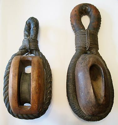 Vintage Maritime/Nautical Pulley, Block & Tackle, Rigging
