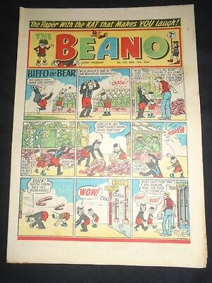 The Beano 1954 August 14th No 630 Dandy Interest Minnie the Minx