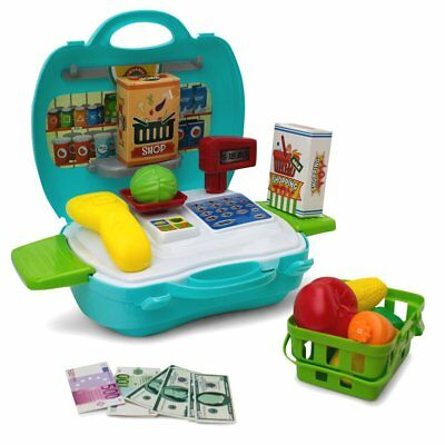 Cash Register Toy Kids Educational Pretend Play Calculator Grocery Food Shopping