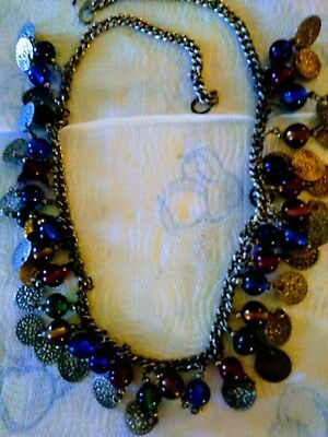 Vintage Necklace. Made With Vintage Beads All Diffrent Colors.size Fits Most