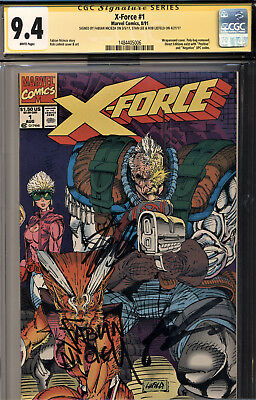 X-Force #1 Cgc 9.4 Signed By Stan Lee-Rob Liefeld & Fabian Nicieza-All Three!!