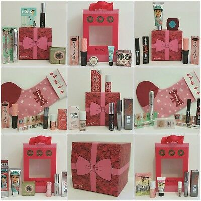 AUTHENTIC❤Benefit Christmas Set, Box, Stocking: Lip, Powder, Highlighter, Brow❤