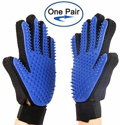 Pet Grooming Gloves, Acuty Pet Hair Removal Gentle Deshedding Brush Massage Tool