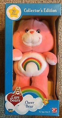 CARE BEARS Retro 20th Anniversary CHEER BEAR PLUSH New In Box