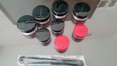 9 PC LOT OF MAKEUP Bare Minerals inc mineral Veil, face color, eye color NEW