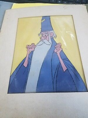 Disney wizard original hand-painted celluloid
