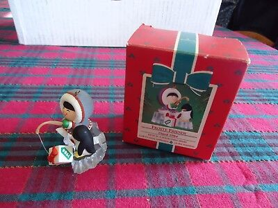 1984 # 5 In The Hallmark Ornament Frosty Friends Series Boxed Very Collectible