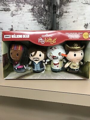 2107 Hallmark The Walking Dead Itty Bitty 4 Piece Set - Hottest Of The Year! New