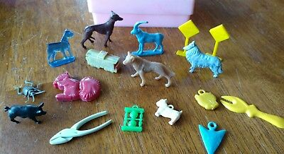 Vintage Old Mixed Lot Of Cracker Jack and Gumball Toy Prizes