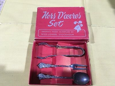 **SALE**  Nils Johan Stockholm Hor's D'oevres Set In Original Box