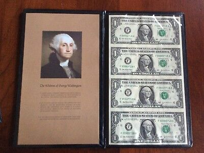 2003 uncut sheet of $1.00 bills with bankers portfolio
