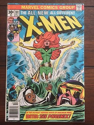 The X-Men #101 (Oct 1976, Marvel), first appearance of the Phoenix
