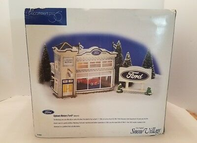 DEPT 56 Uptown Motors Ford (Set of 3) - 54941 Snow Village in Box