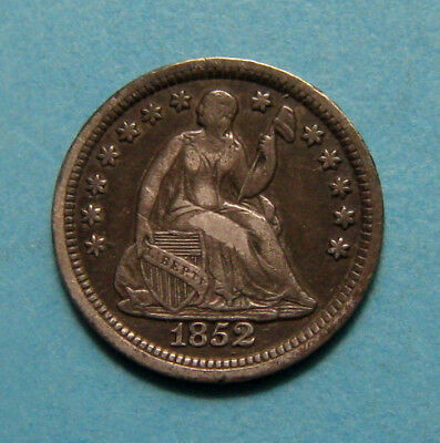 1852 Seated Liberty Half Dime ✪ No Arrows ✪ AC1119