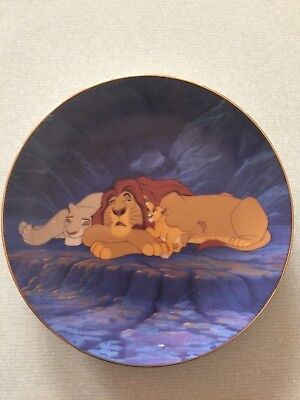 The Bradford Exchange plate #1021A Rise and Shine ninth issue in The Lion King