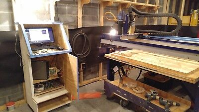 ShopBot 4ftx8ft 2006 Router Converted to Mach3 w/4 axis & 3 hp Columbo Spindle