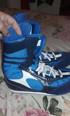 mens blue boxing boots by APOLLO SIZE 9