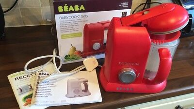 Beaba Babycook baby food steamer and blender, Red