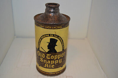 Old Topper Snappy Ale j-spout cone top beer can-Rochester Brwg. Co.-Rochester,NY