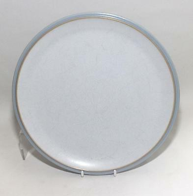 Denby Pottery Everyday Cool Blue Pattern Dinner Plate 27cm Dia in Stoneware