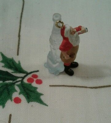 Christmas Tree Ornament Mini Coca-Cola Santa Drinking a Bottle of Coke Hallmark?