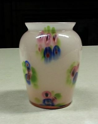 Lovely Old Pink Millefiori Glass Vase Milefiori