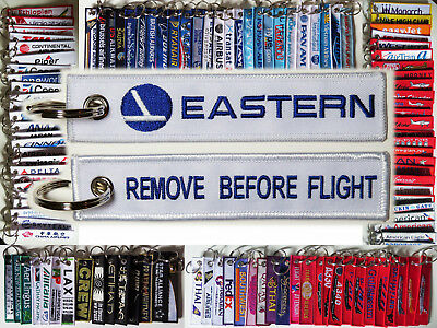 Keyring EASTERN AIRLINES Remove Before Flight tag keychain