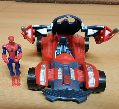 Spider Man Spiderman Hasbro  All Mission Racer Car Auto